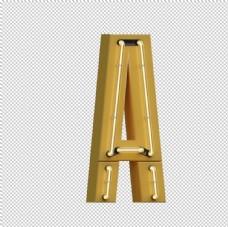 高清立体灯管字母元素