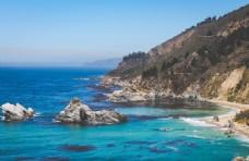 海岸风景摄影图