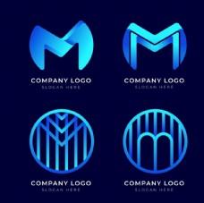 M字母l创意logo设计