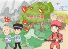 森林防火漫画一严惩失火罪