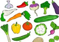 蔬菜水果卡通矢量图