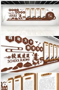 立体师德师风校园文化墙图片