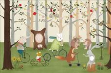 动物卡通背景墙