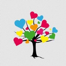 多彩爱心树