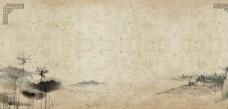 山水复古国风古风海报素材