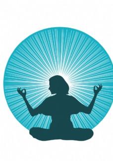 女子瑜伽光芒
