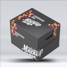 纸质蛋糕食品包装盒PSD源文件