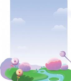 卡通糖果背景