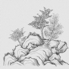 水墨中国风迎客松图片