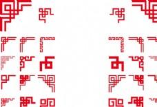 中国风边框回形边角花纹