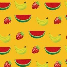 矢量图立体水果底纹循环