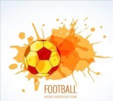 足球水彩飞溅