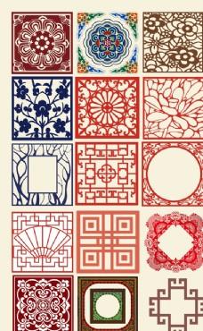 中国风装饰花纹素材