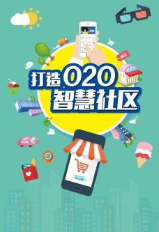 手机购物智慧社区海报