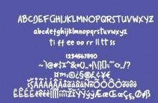 手寫圓潤英文字體