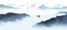 中国风新中式山水画