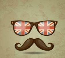 时髦胡子和眼镜图片