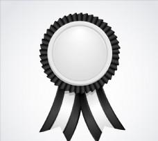 丝带黑色和白色标签图片