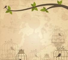 背景鸟笼子图片