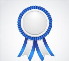 蓝色和白色标签丝带图片