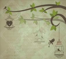 汉鼎鸟笼子背景图片