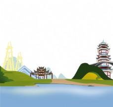 自贡建筑手绘