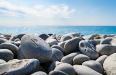 岩石海边海洋自然生态背景素材