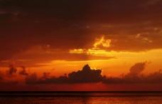 晚霞海洋自然生态背景素材