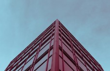 建筑城市红色简约留白背景素材