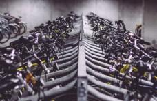 自行车库建筑停车场背景素材
