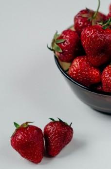 草莓水果新鲜夏季背景素材