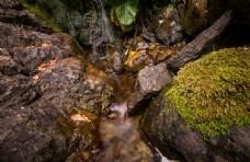 溪水山谷自然生态背景素材