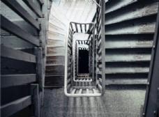 螺纹楼梯建筑艺术背景素材