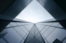 建筑城市简约留白背景素材