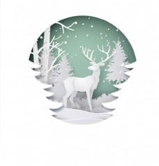 圣诞节 梅花鹿