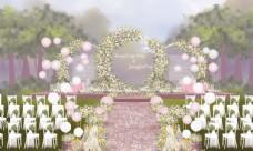 户外婚礼仪式区图片
