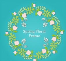 质感春季花环图片