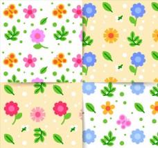 春季花朵无缝背景图片