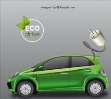 生态绿色汽车图片