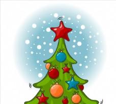 圣诞树卡通图片