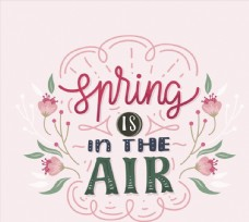 彩绘春季艺术字图片