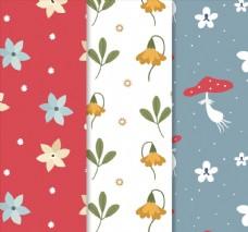 花卉和蘑菇背景图片
