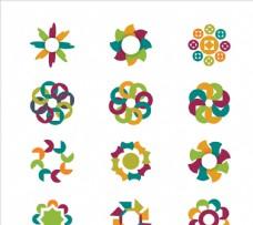 抽象花卉徽标图片