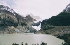 湖面山峰自然生态清新背景素材