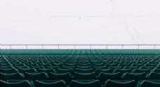 座椅观众席空旷留白背景素材