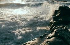 大海波浪波纹浪花背景素材
