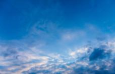 天空蓝色云海自然生态背景素材