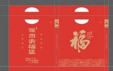 手提袋 福字 春节 年 红