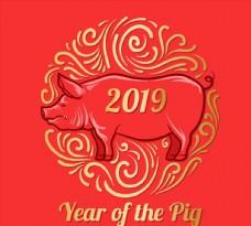 新年裝飾豬元素圖片