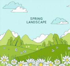 草地花丛风景图片